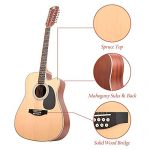 Vangoa 12 String Acoustic Guitar Cutaway, Spruce Top & Mahogany Sides, 41 Inch Full-size, with Beginner Kit, Natural 1