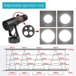 15W LED White Spot Light Led Pin Spot Manual Focus Length Adjustable with 4 Apertures, Aperture Size Adjustable, for DJ Disco Club Party Wedding Stage Effect Lighting 3