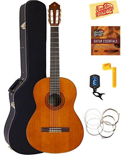 Yamaha Full-Size Classical Guitar Bundle with Hard Case