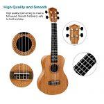 POMAIKAI Concert Ukulele Mahogany 23 inch Beginners Starter Kit Small Hawaiian Guitar Ukeleles for Beginners Kids Adults with Gig Bag 3