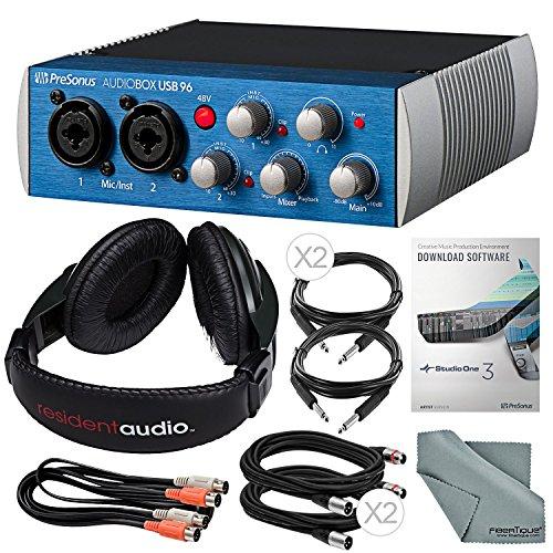 PreSonus AudioBox USB 2.0 Audio Recording Interface and Accessory Bundle