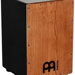 Meinl Percussion Cajon with Internal Metal Strings for Adjustable Snare Effect – NOT MADE IN CHINA – American White Ash with MDF Body, 2-YEAR WARRANTY, HCAJ1AWA)