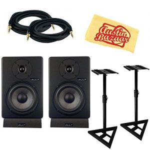 Vault C6 6-Inch Powered Studio Reference Monitor Pair Bundle