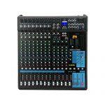 G-MARK Professional Audio Mixer Sound Board Console System Interface 16 Channel Digital USB Bluetooth MP3 Computer Input 48V Phantom Power Stereo DJ 24-Bit SPX effects 1
