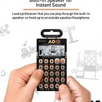 Teenage Engineering PO-16 Pocket Operator Factory Lead and Chord Synthesizer Bundle with Samson SR350 Over-Ear Closed-Back Headphones, Blucoil 3-Pack of 7″ Audio Aux Cables, and 4 AAA Batteries 3