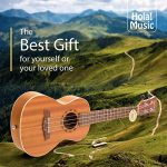 Concert Ukulele Bundle – LEFT HANDED, Deluxe Series by Hola! Music (Model HM-124LFT+), Bundle Includes: 24 Inch Mahogany Ukulele with Aquila Nylgut Strings Installed, Padded Gig Bag, Strap and Picks 3