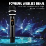 Hotec 25 Channel UHF Wireless Microphone Dual Microphone with Mini Portable Receiver 1/4″ Output, for Church/Home/Karaoke/Business Meeting (Dual mic) 2