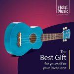 Hola! Music HM-21BU Soprano Ukulele Bundle with Canvas Tote Bag, Strap and Picks, Color Series, Blue 2