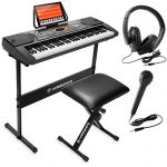 Hamzer 61-Key Electronic Keyboard Portable Digital Music Piano with H Stand