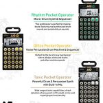 Teenage Engineering Ultimate PO Cocktail Bundle – 3-in-1 Set of Pocket Operator PO-12 Rhythm, PO-24 Office, and PO-32 Tonic 2