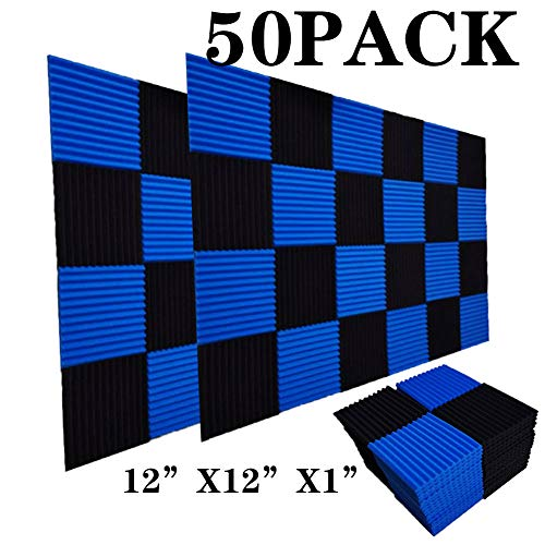 50 Pack Acoustic Panels Soundproof Studio Foam for Walls Sound