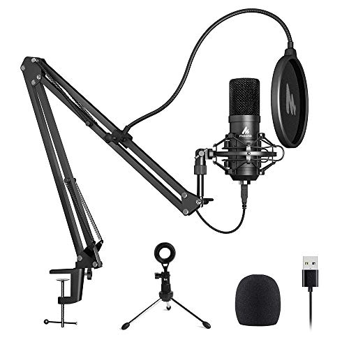 USB Microphone MAONO A04 Plus Cardioid Condenser Podcast Mic