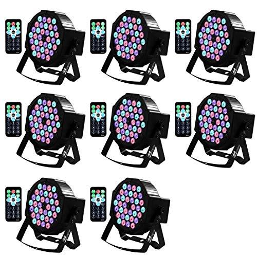 DJ Lights Missyee 36 X 1W RGB LEDs DJ LED Uplighting Package Sound