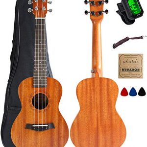Concert Ukulele Mahogany 23 inch with Ukulele Accessories