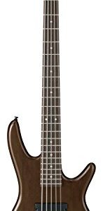 Ibanez 5 String Bass Guitar, Right, Walnut