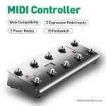 MIDI Foot Controller,MeloAudio Guitar Floor Multi-Effects Portable USB MIDI Foot Controller with 10 Foot Switches,2 Expression Pedal Jacks and 8 Host Presets 1
