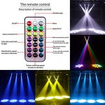 U`King 50W LED Moving Head Light with Remote 8 Gobo 8 Pattern Spotlight by DMX Controlled 9/11 Channel for Disco Club Party Stage Lighting Shows 1