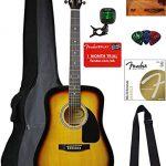 Fender Squier Dreadnought Acoustic Guitar - Sunburst Bundle with Gig Bag