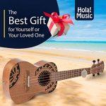 Hola! Music HM-124TT+ Laser Engraved Mahogany Concert Ukulele Bundle with Aquila Strings, Padded Gig Bag, Strap and Picks – Tribal Tattoo 3