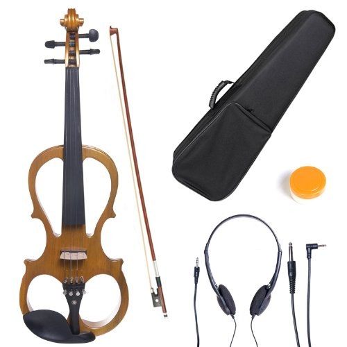 Cecilio 3/4 Solid Wood Electric/Silent Violin with Ebony Fittings