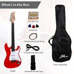 PylePro Full Size Electric Guitar Package w/ Amp, Guitar Bundle, Case & Accessories, Electric Guitar Bundle, Beginner Starter Package, Strap, Tuner, Pick, Ready to Use Out of the Box, Red (PEGKT15R) 3