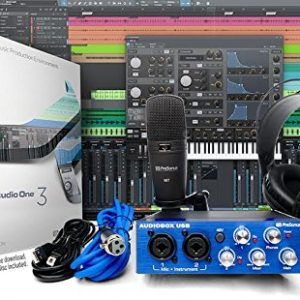 PreSonus AudioBox Studio with Headphones, Microphone