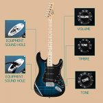 GLARRY Full Size Electric Guitar for Music Lover Beginner with 20W Amp and Accessories Pack Guitar Bag (Dark Blue) 2
