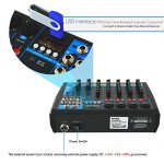 Pyle Professional Audio Mixer Sound Board Console – Desk System Interface with 6 Channel, USB, Bluetooth, Digital MP3 Computer Input, 48V Phantom Power, Stereo DJ Streaming & FX16 Bit DSP-(PMXU63BT) 2