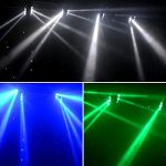 Spider Moving Head Strobe Light 100W,RGBW LED Stage Lighting, DMX DJ Light with Gobo Pattern for Party Disco Wedding KTV Club Party and More Performance Places 2
