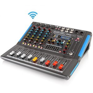 4-Channel Bluetooth Studio Audio Mixer - DJ Sound Controller Interface