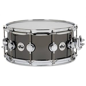 "DW Collector's Series Metal Snare - 8"" x 14"" Black Nickel over Brass"