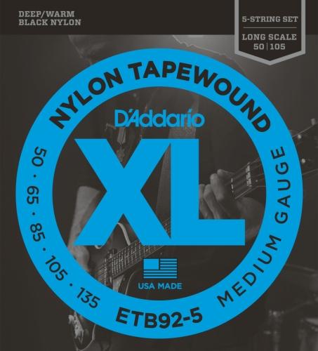 D'Addario 5-String Tapewound Bass Guitar Strings