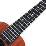 Enya Concert Ukulele 23 inch Kit in Mahogany Pattern Beginner Ukulele with Online Lessons,Padded Ukulele Bag,Tuner, Aquila Strings,Strap,Picks and a Ukulele Booklet EUC-X1M 3