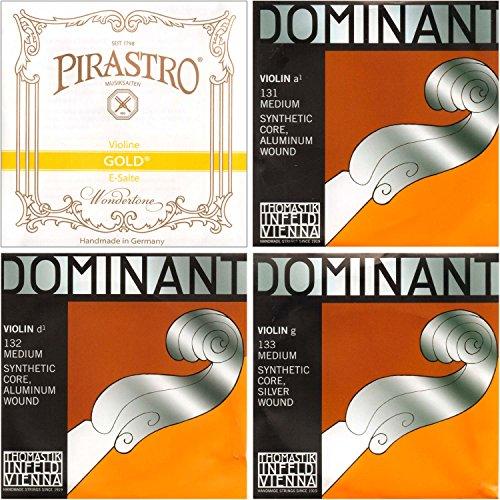 JSI Special 4/4 Violin String Set: Gold Label Loop-End E & Dominant