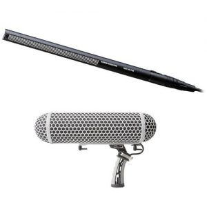 Sennheiser Short Shotgun Mic and Marantz Professional Blimp-Style Microphone