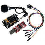 Geeetech High Sensitivity Voice Recognition Module with Microphone + USB to RS232 TTL Converter + Jumper wires for Arduino