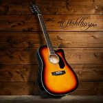 Ashthorpe Full-Size Cutaway Thinline Acoustic-Electric Guitar Package – Premium Tonewoods – Sunburst 1