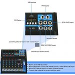 Pyle Professional Audio Mixer Sound Board Console – Desk System Interface with 6 Channel, USB, Bluetooth, Digital MP3 Computer Input, 48V Phantom Power, Stereo DJ Streaming & FX16 Bit DSP-(PMXU63BT) 3