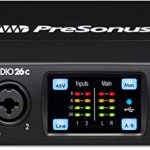 PreSonus Studio 26c 2×4, 192 kHz, USB-C Audio Interface, 2 Mic Pres-4 Line Outs 3