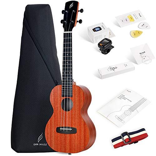 Enya Concert Ukulele 23 inch Kit in Mahogany Pattern Beginner Ukulele
