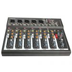 4/7 Channel Professional Powered Mixer Power Mixing Live Studio Audio Sound DJ-Mixer Mixing Console with USB slot (7 Channel) 3
