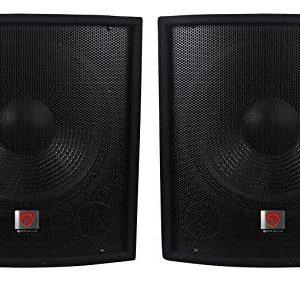"(2) Rockville 15"" 800w Passive Pro DJ Live Sound Subwoofers MDF Cabinets"
