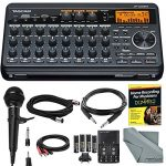 Tascam DP-008EX 8-Track Digital Pocketstudio and Deluxe Bundle with Home Recording for Musician's Guide + Handheld Mic + FibertTique cloth and More