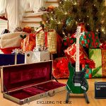 GLARRY 39″ Full Size Electric Guitar for Music Lover Beginner with 20W Amp and Accessories Pack Guitar Bag (Green) 1