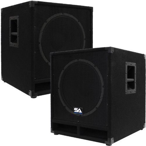 "Seismic Audio - Baby-Tremor - Pair of Powered 15"" Pro Audio"