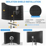 Aokeo Professional Studio Recording Microphone Isolation Shield, Pop Filter.High Density Absorbent Foam is Used to Filter Vocal. Suitable for Blue Yeti and Any Condenser Microphones(AO-302 With Stand) 3