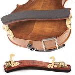 Kun Bravo Collapsible 4/4 Violin Shoulder Rest - Hardwood and Brass