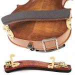Kun Bravo Collapsible 4/4 Violin Shoulder Rest – Hardwood and Brass