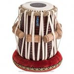 MAHARAJA Tabla Drum Set – Buy 3KG Black Brass Bayan, Finest Dayan with Book, Hammer, Cushions & Cover (PDI-EA) 3