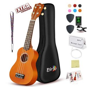 Soprano Ukulele Beginner Pack-21 Inch w/Gig Bag Fast Learn Songbook